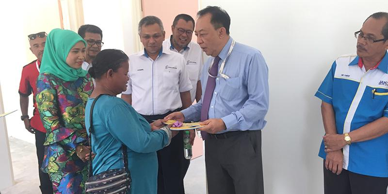 Handover House's Keys To The Indigenous People (Orang Asal) Of Pulau Indah