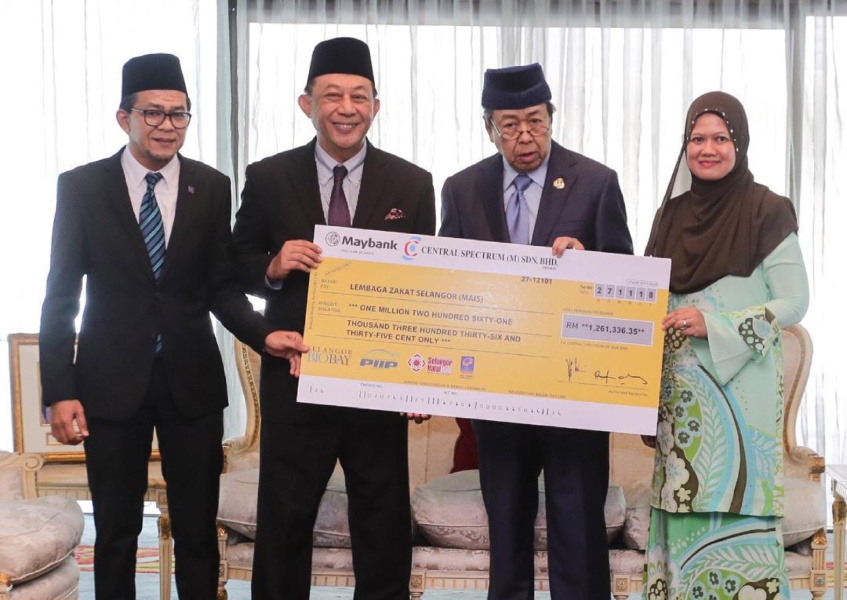 Zakat Payment Ceremony With DYMM Sultan Selangor