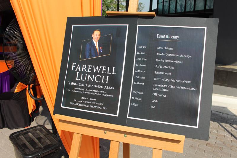 Farewell Lunch For Dato' Mahmud Abbas