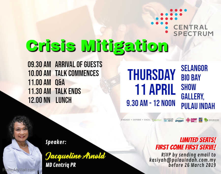 Crisis Mitigation – Corporate Talk By Jacqueline Arnold